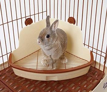 ミニアニマン ウサギの固定式コーナートイレ