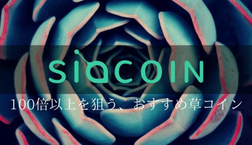 Siacoin(シアコイン)/SC【100倍以上を狙う、おすすめ草コイン】