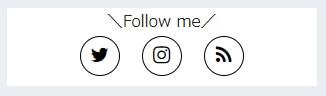 オシャレなSNS丸ボタン通常時