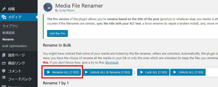 Media File Renamer一括変換
