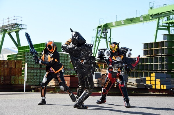 仮面ライダーゴーストが3人