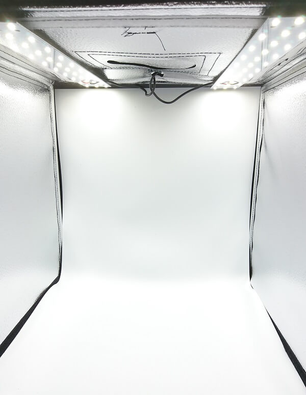 PULUZ撮影ボックスの内部