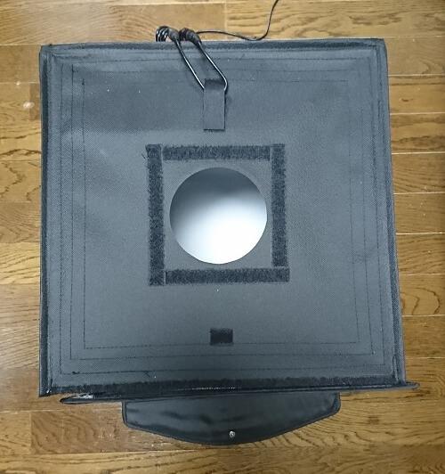PULUZ撮影ボックスの真上の穴