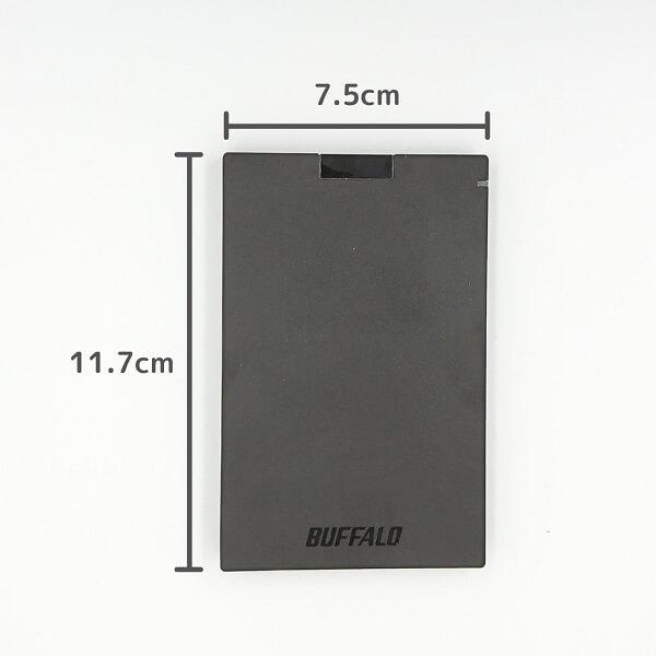 BUFFALO SSD-PG480U3-B/NLのサイズ