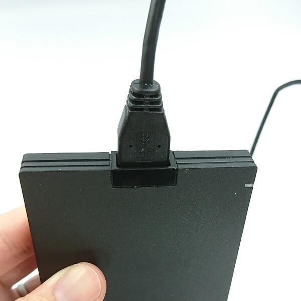 BUFFALO SSD-PG480U3-B/NLはコネクタが抜けにくい