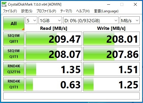 HDD転送速度