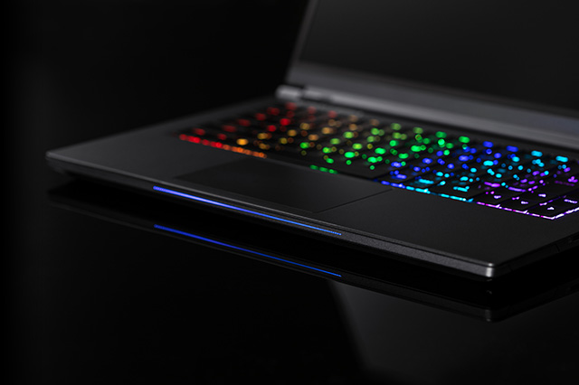GALLERIA(ガレリア)Gaming Centerの虹色のキーボード