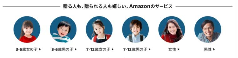 Amazonクリスマスギフト2020プレゼントを贈る相手別