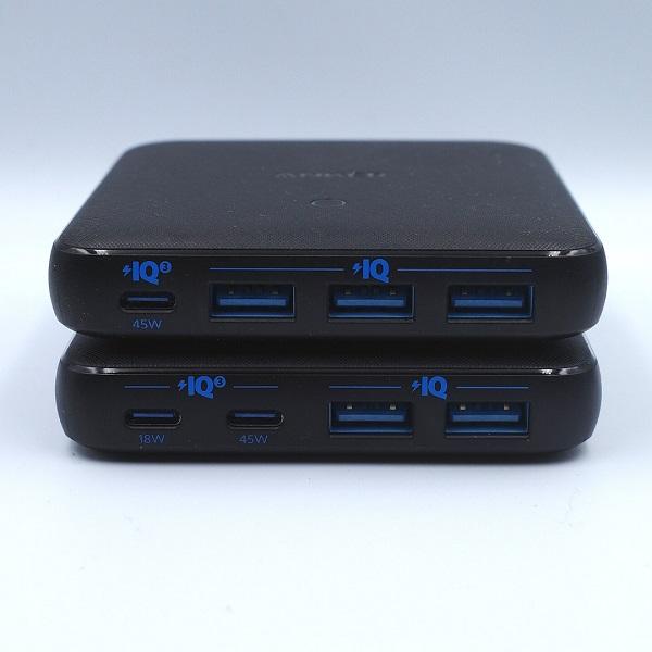 Anker「PowerPort Atom Ⅲ 63W Slim」と「PowerPort Atom Ⅲ Slim(Four Ports)」を2段重ね