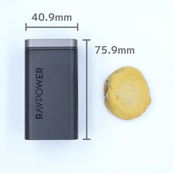 RAVPower「RP-PC136」のサイズ
