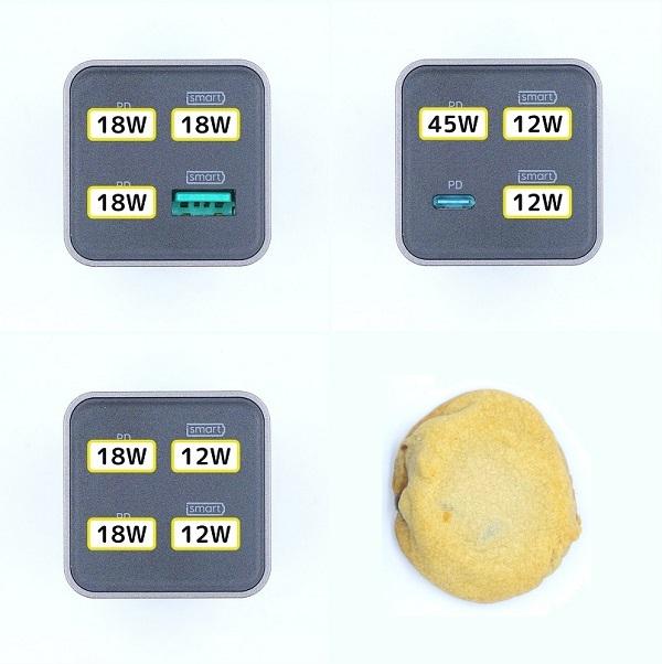 RAVPower「RP-PC136」のワット数の分配とカントリーマアム