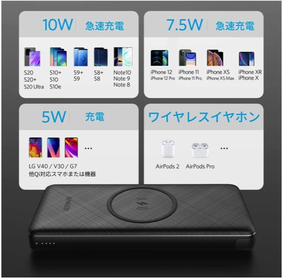 Anker PowerCore III 10000 Wireless対応デバイス