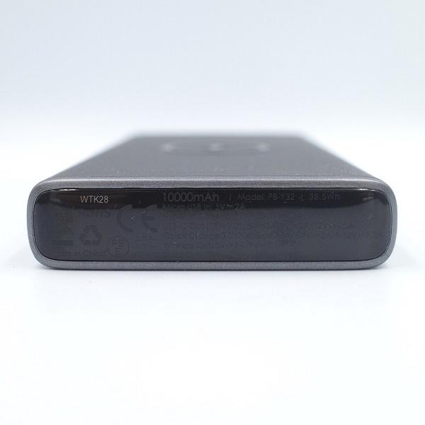 AUKEY Qi対応 10000mAh モバイルバッテリー PB-Y32上部