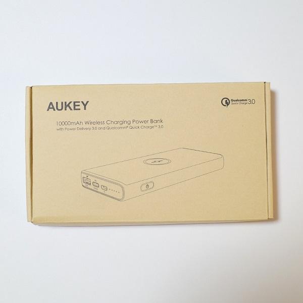 AUKEY Qi対応 10000mAh モバイルバッテリーPB-Y32パッケージ
