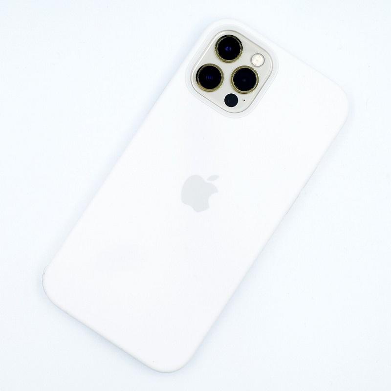 MagSafe対応iPhone 12 | iPhone 12 Proシリコーンケース - ホワイト+iPhone 12 Proゴールド