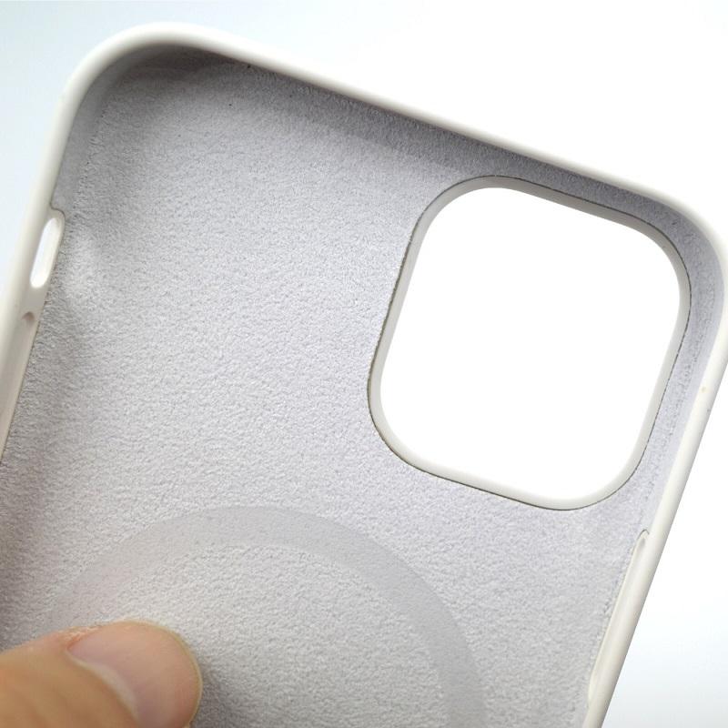 MagSafe対応iPhone 12 | iPhone 12 Proシリコーンケース - ホワイト内側