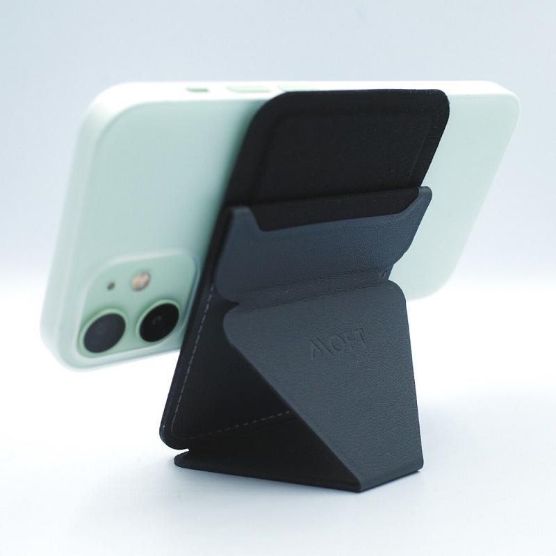 MagSafe対応MOFT Xを縦にしてiPhone12miniを横向きに(背面)