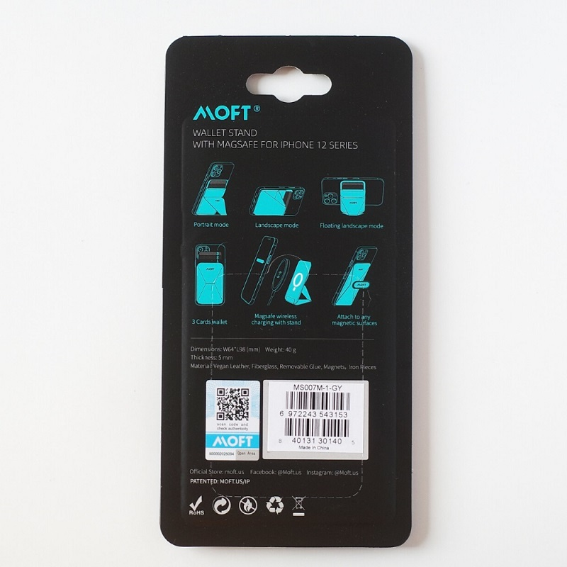 MagSafe対応MOFT Xパッケージ裏面