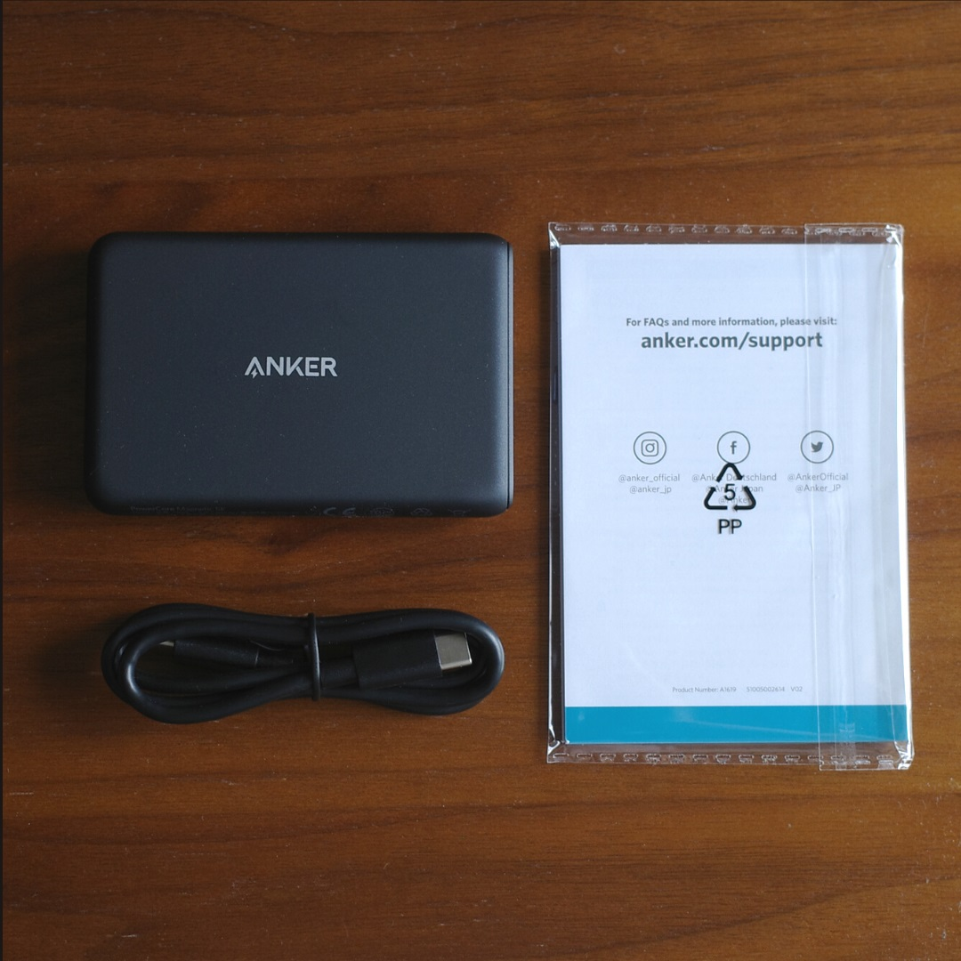 Anker PowerCore Magnetic 5000同梱品