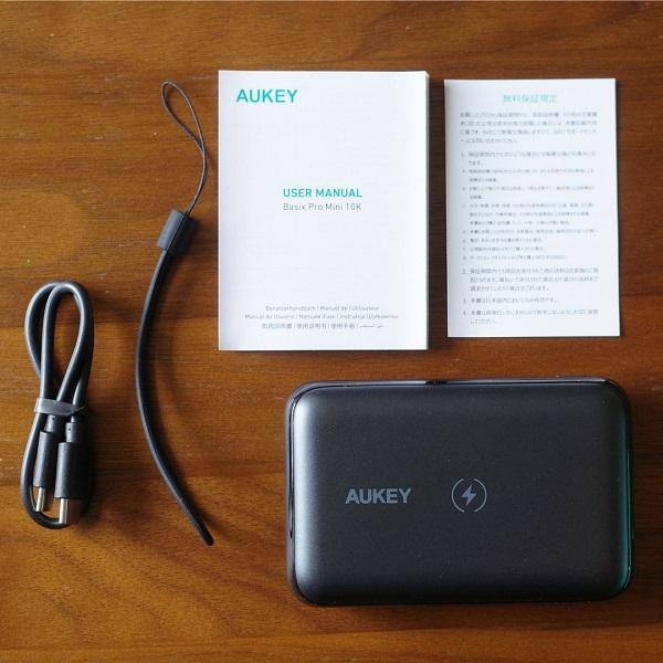 AUKEY Basix Pro Mini(PB-WL01S)同梱品