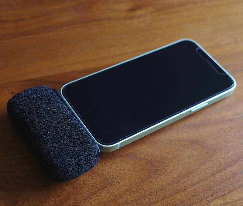 iPhone12 miniでLangogo Miniを使用(スポンジ装着)