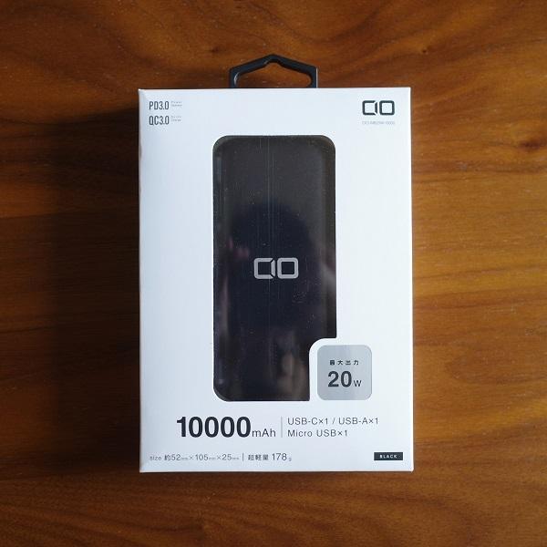 CIO-MB20W-10000-BKの外箱