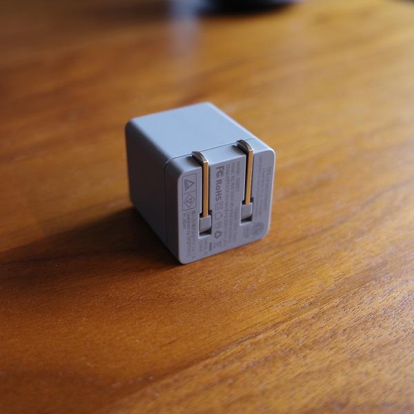 DIGIFORCE 20W USB PD Fast Chargerのプラグ折りたたみ時