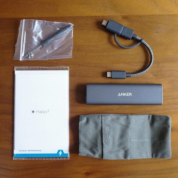 Anker PowerExpand M.2 SSD ケースの同梱品