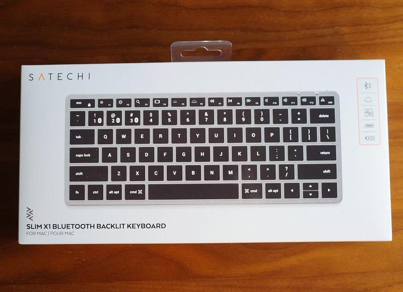Satechi スリム X1 Bluetooth バックライトキーボードのパッケージ