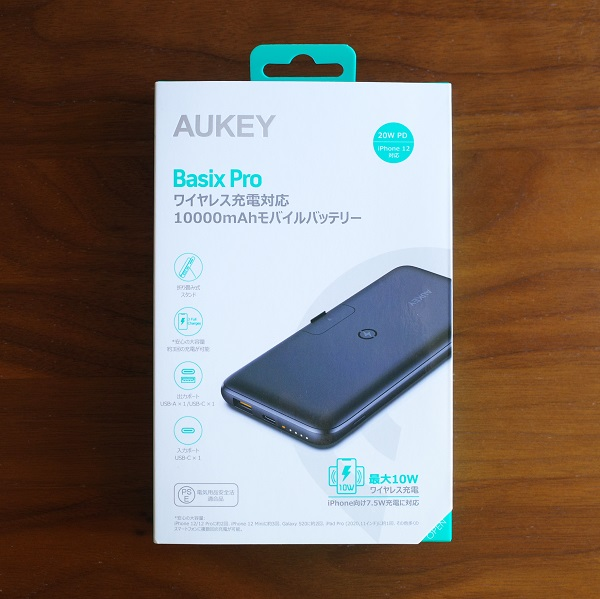 AUKEY Basix Pro(PB-WL02S)のパッケージ