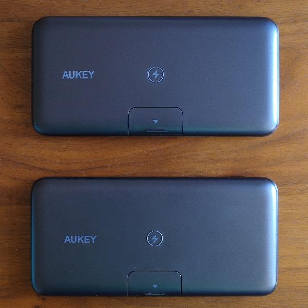 AUKEY Basix Pro 新PB-WL02Sと旧PB-WL02表面