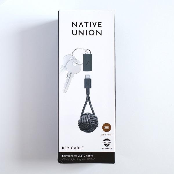 Native Union Key Lightning to USB-A Cableパッケージ