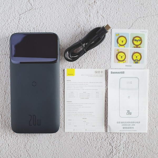 Baseus MagSafeモバイルバッテリー同梱品