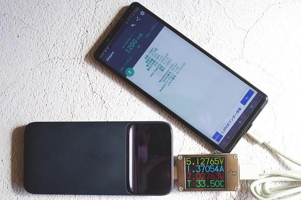 Baseus MagSafeモバイルバッテリーUSB-AでXperia1Ⅱを充電